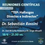 Jueves 18/06 – Reunión Científica Virtual